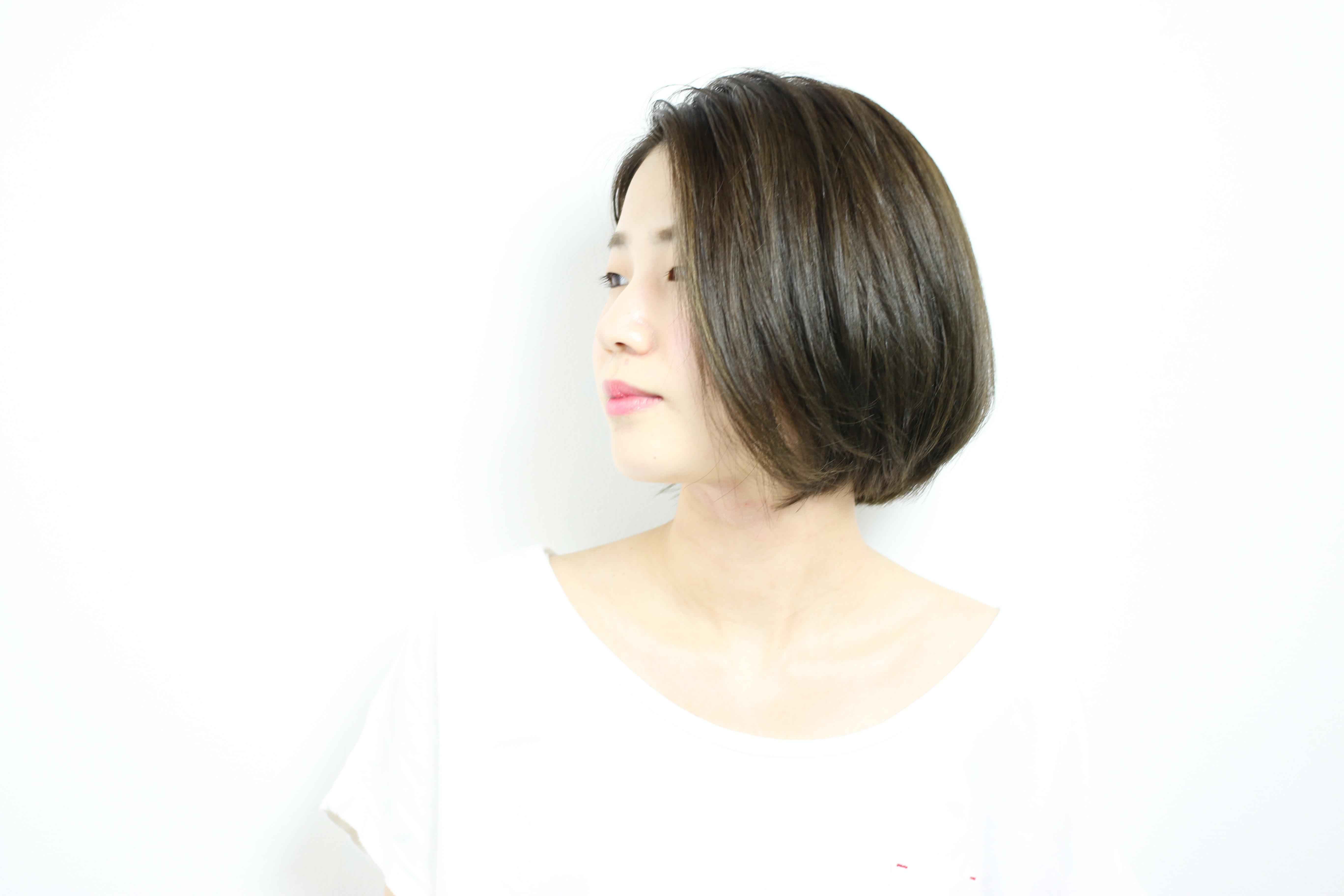アゴライン重めショートボブ   HAIR  古賀久美子